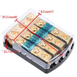 1 in 4 out Style Car Stereo Audio Amplifier Fuse Holder Fuse