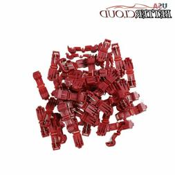 100X 22-18 AWG Red Scotch Lock T-Tap Car Audio Electronics C