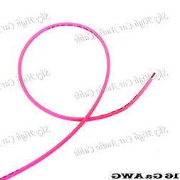 100 ft 16 Gauge AWG Primary/Remote Wire Pink Sky High Car Au