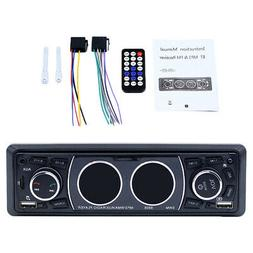 1Din Bluetooth 4.2 Car MP3 Player Stereo Audio FM Radio TF U