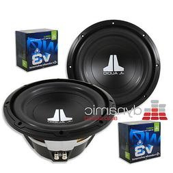 "2 JL AUDIO 10W0v3 Car Subwoofers 10"" SVC 4-Ohm 600 Watts S"