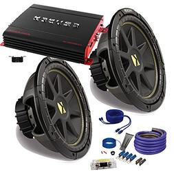 "Kicker 2 12"" Comp Subwoofers and a Crunch PX2000.1D 2000 Wat"