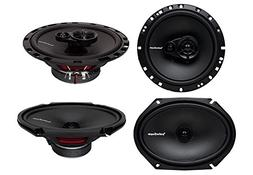 "2) Rockford Fosgate R168X2 6x8"" 110W 2 Way + 2) R165X3 6.5"""