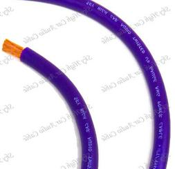 20 ft 1/0 Gauge Oversized AWG PURPLE Power Ground Wire Sky H