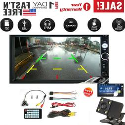1x 7inch 2DIN Car MP5 Player Bluetooth Touch Screen Stereo R