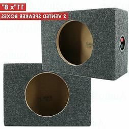 "2x CAR AUDIO 6.5"" SPEAKER BOX ENCLOSURE CARPET TEXTURE TERMI"