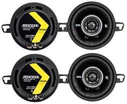 4) Kicker 43DSC3504 3-1/2-Inch 160 Watt 2-Way Speakers