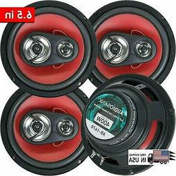 "4x Audiobank 6.5""  3-Way  Car Audio Stereo Coaxial Speakers"