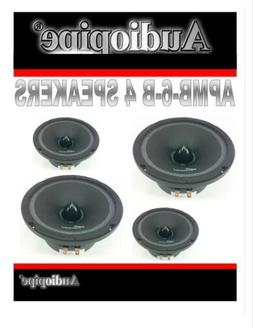 4 AUDIOPIPE APMB 6 6.5 6 CAR AUDIO LOUD SPEAKER PAIR LOW MID