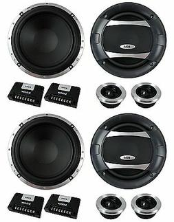 "4) BOSS AUDIO PC65.2C 6.5"" 1000W Car 2 Way Component Speaker"
