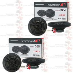 "4 x NEW NAKAMICHI CAR AUDIO 6"" 6-INCH 2-WAY COAXIAL SPEAKERS"