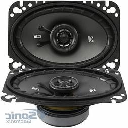 Kicker 43CSC464 CSC46 4x6-Inch Coaxial Speakers, 4-Ohm