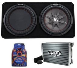 "Kicker 43TCWRT124 1000W 12"" 4-Ohm Slim Shallow Subwoofer+Box"