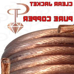 15 ft TRUE AWG 1/0 Gauge OFC COPPER Power Wire CLEAR Ground