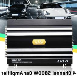 5800W 12V Car Amplifier Subwoofer 4 Channel Stereo Audio Sup