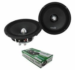 "6.5"" Neodymium Bullet Speaker Pair 300W 4 Ohm Pro Car Audio"