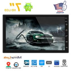 """7"""" 2Din Touch Quad Core Android 8.1 Car Stereo MP5 Player GP"""