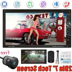 """7"""" Double 2Din Car Stereo CD DVD MP3 Player Radio Bluetooth"""