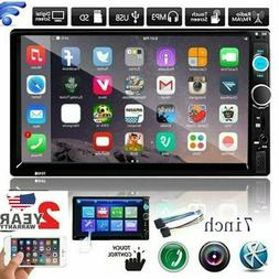 """7"""" Double 2Din Touch Screen Car Stereo MP5 Player Bluetooth"""