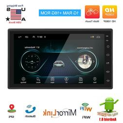Android 8.1 Car Audio Stereo Radio 2 DIN 7inch GPS Navi MP5