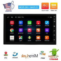 "Android8.1 Car Audio Stereo Radio 2DIN 7"" GPS Wifi QUAD-Core"