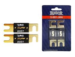 Absolute USA BESFAV-ANL150-2 ANL Fuses 150 Amp Gold Plated,