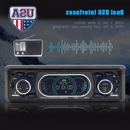 Audio Car HD Radio Stereo Bluetooth MP5 Player 1 DIN AUX 2 U