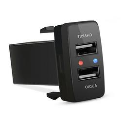 auto cellphone dual usb port socket charger