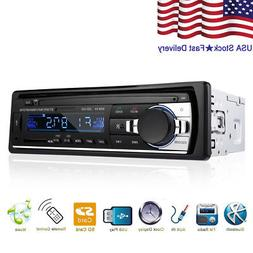 Bluetooth Car Stereo Audio In-Dash FM Aux Input Receiver SD