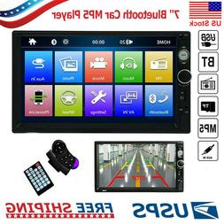 """Bluetooth Car Stereo Radio 2 DIN 7"""" HD MP5 FM Player Touch S"""