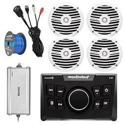 Rockford Fosgate Bluetooth Marine Digital Media Receiver, 4X