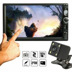 """Car 2 DIN 7"""" Inch HD 1080P MP5 FM Player Touch Screen Stereo"""