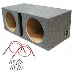 Car Audio Dual 10 Inch Ported Subwoofer Enclosure Stereo  10