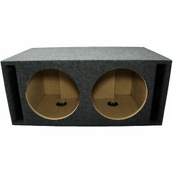 car audio dual 12 inch slot vented