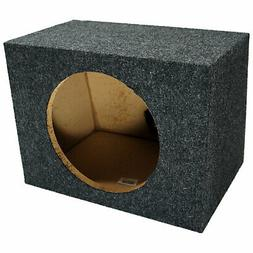 Car Audio Single 10-In Sealed Subwoofer Enclosure Bass Stere