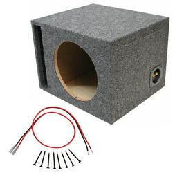 """Car Audio Single 10"""" Ported Subwoofer Enclosure Stereo Bass"""