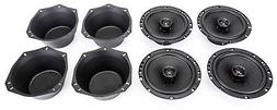 """NEW 2 Pairs of Skar Audio 6.5"""" 180W 2 Way Car Speakers with"""