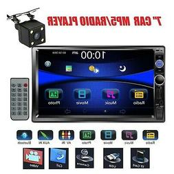 Car Stereo Double Din Radio with Rear View Camera, Regetek 7
