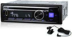Alpine CDE-143BT Single-DIN Bluetooth Car Stereo USB Aux