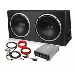 Belva 1200 watt Complete Car Subwoofer Package includes Two