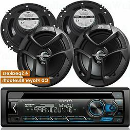 Pioneer DEH-S4200BT 1-DIN CD Player Bluetooth + 4x JVC CS-J6