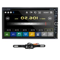 """Double 2 Din 7"""" Car Stereo DVD CD MP3 Player HD In Dash Blue"""