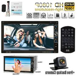 "Double 2Din 7"" Car Stereo DVD CD MP3 Player HD In Dash Bluet"