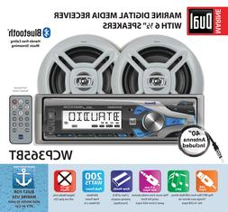 Dual Electronics WCP365BT Marine Stereo LCD Single DIN with