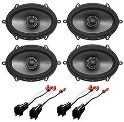 Polk 6x8 Front+Rear Speaker Replacement for 2001-2005 Ford E