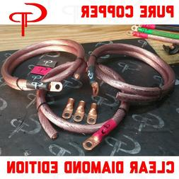 GP Car Audio Big 3 UPGRADE wiring Kit OFHC COPPER TRUE 1/0 A