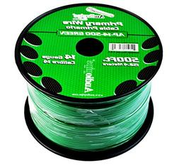 Audiopipe Green 500' Feet 14 Gauge AWG Car Audio Primary Pow