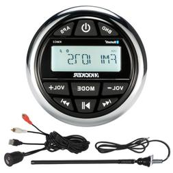 46KMC2 Kicker Marine Gauge Bluetooth Radio Receiver, Antenna