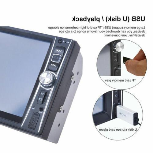 "1080P Bluetooth Car Stereo 7"" HD MP5 FM Player Screen"