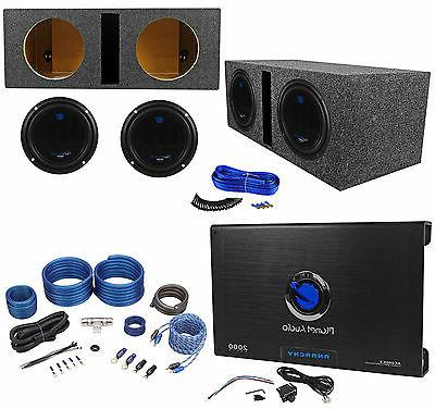 "2) 10"" Subwoofers+Vented Box+2 Kit"